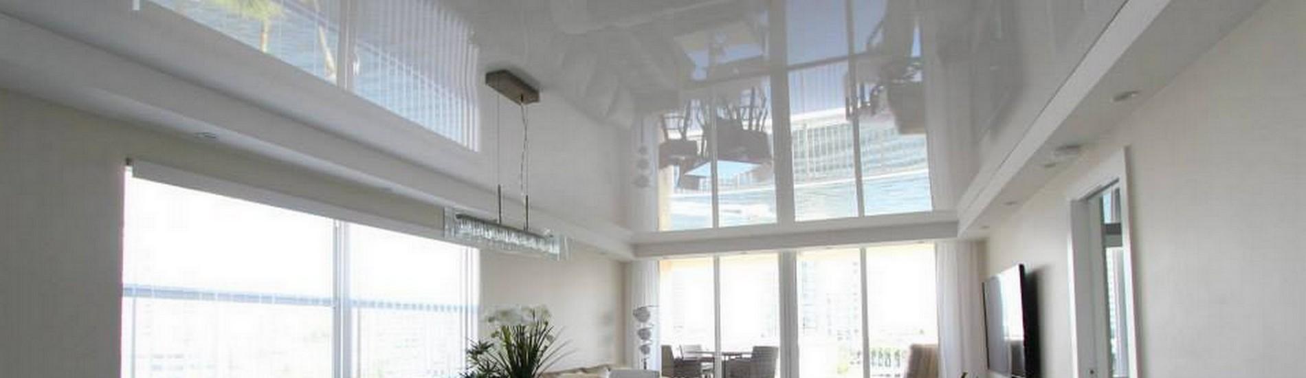 Plafond tendu laqué